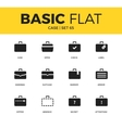 Basic set of case icons vector image