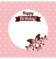 beautiful butterfly frame vector image vector image