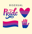 bisexual pride symbols lgbt rights concept vector image