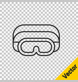 black line ski goggles icon isolated on vector image vector image