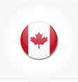 canadian flag in a circle on gray background vector image vector image
