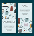 Car parts web banner templates