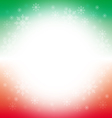 Christmas and winter background - green and red vector image vector image