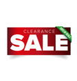 Clearance Sale patch banner vector image