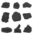 coal stones set vector image
