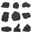 coal stones set vector image vector image