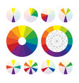 color wheel types of color complementary schemes vector image