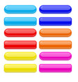colored set of 3d glass buttons vector image