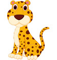 cute leopard cartoon vector image vector image