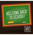 Cute school college university poster - school vector image vector image