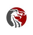 dragon circle logo design mascot template isolated vector image vector image