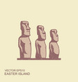 easter island statues icon in vector image vector image