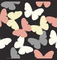 elegant pattern with cute butterflies vector image