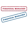 Financial Manager Rubber Stamps vector image vector image