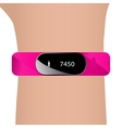 Fitness bracelet and hand vector image