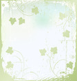 floral background ivy vector image vector image