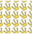 Gold yellow contour crown icon King queen princess vector image