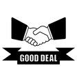 good deal handshake icon vector image vector image