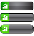growth button set vector image vector image