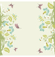 grunge decorative floral frame with butterfly elem vector image vector image