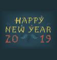 happy new year 2019 folk inscription vector image vector image