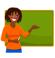 happy teacher vector image vector image