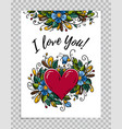 happy valentines day card calligraphy i love you vector image vector image