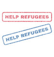 help refugees textile stamps vector image
