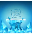 Ice backdrop vector image vector image