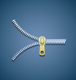 Icon zipper Flat graphic vector image vector image