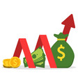 income growth chart vector image