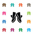 isolated sneakers icon gumshoes element vector image
