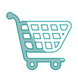 isolated supermarket cart vector image vector image