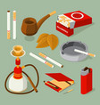 isometric pictures of different accessories for vector image vector image