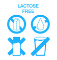 lactose free labels food set no allergen vector image vector image