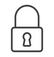 lock line icon web and mobile security sign vector image vector image