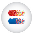 Medicine capsules vector image vector image