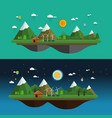 modern flat design landscape vector image vector image