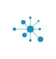 molecule symbol logo template vector image