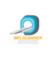 mri scanner logo template vector image vector image