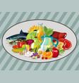 natural organic food vector image vector image