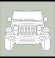 off-road vehicle jeep vector image vector image