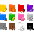 primary colors cartoon set vector image vector image