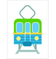 railway transport isolated icon vector image