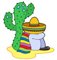 resting mexican vector image