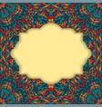retro boho floral frame four vector image vector image