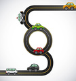 road highway vector image vector image