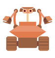 robot collector icon cartoon style vector image