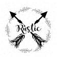 rustic branches around of arrows vector image vector image