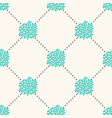 seamless geometric pattern with sea corals vector image vector image